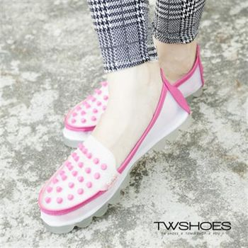 【TOMO】鉚釘透膚網紗平底果凍鞋【K120A2696】