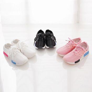 《DOOK》網布鏤空拼接綁帶款潮流輕量休閒鞋-3色