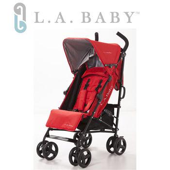 【L.A. Baby 美國加州貝比】時尚輕便嬰兒手推車(紅色)
