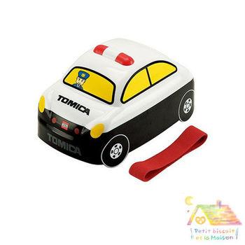 日本進口 立體雙層 車車 便當盒/ 午餐盒(警車)
