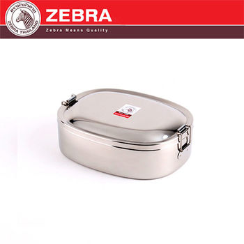 【斑馬 ZEBRA】#304不鏽鋼橢圓便當盒(15cm/0.6L)