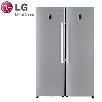 LG 樂金 Match極好搭690公升變頻對開冰箱 / 精緻銀  (GR-FL40SV+GR-R40SV)