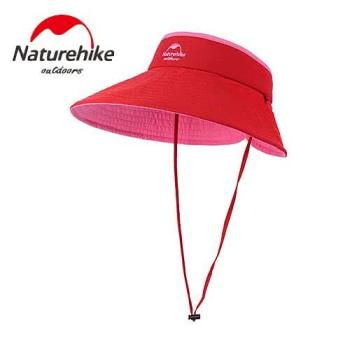 【Naturehike】繽紛撞色款雙面可戴空頂遮陽帽/防曬帽 (紅粉色)