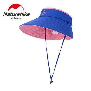 【Naturehike】繽紛撞色款雙面可戴空頂遮陽帽/防曬帽 (藍粉色)