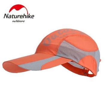 【Naturehike】混色風格款防曬透氣遮陽帽/鴨舌帽/棒球帽 (橘黃)