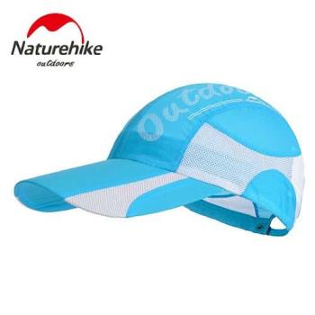 【Naturehike】混色風格款防曬透氣遮陽帽/鴨舌帽/棒球帽 (天藍)