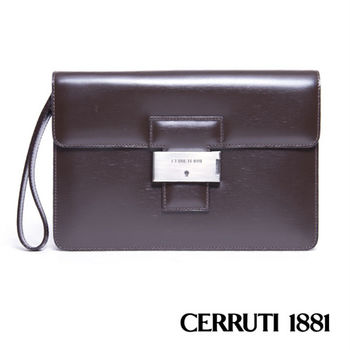CERRUTI 1881 義大利進口手包 - 咖啡色 020F-E0802