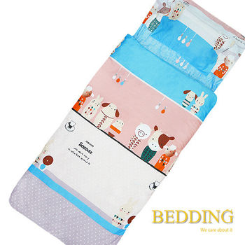 BEDDING 搪瓷娃娃  100%棉 多功能冬夏兩用鋪棉兒童睡袋