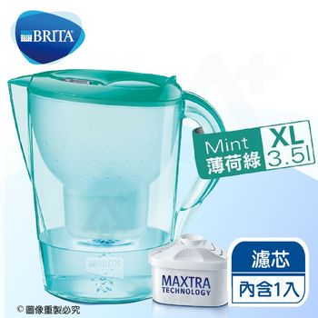 《德國BRITA》 3.5L馬利拉花漾濾水壺【內含一支濾芯】.薄荷綠