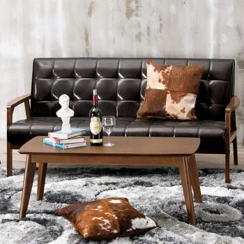 Bernice-曼哈頓實木沙發三人椅/三人座