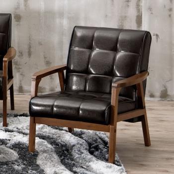 Bernice-曼哈頓實木沙發單人椅/單人座