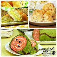 原味維也納麵包6入 ^#43 原味冰火菠蘿包8入 ^#43 西瓜蛋糕1入