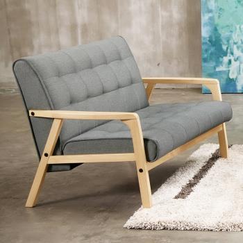 Bernice-凡賽斯實木布沙發雙人椅/二人座