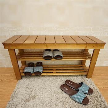 【凱堡】實木簡約穿鞋椅