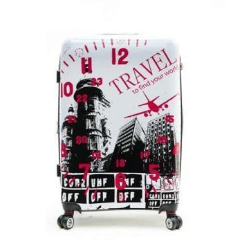 【ARTBOX】夢想城市-28吋可加大飛機輪鏡面硬殼行李箱(三款任選)