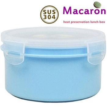 【卡滋#買1送1 】馬卡龍隔熱餐盒920cc/大號便當盒便當盒/保鮮盒(水藍x2)