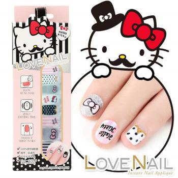 【LOVE NAIL】Hello Kitty x LOVE NAIL限定版指甲油貼-淑女紳士條紋