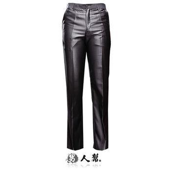 【男人幫】日系奢華銀灰條紋中低腰直筒西裝褲(K0418)