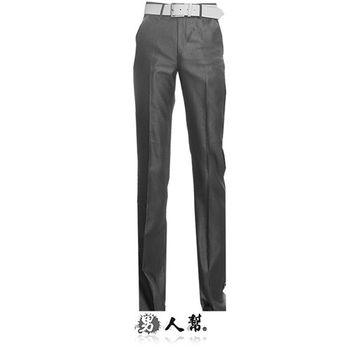 【男人幫】韓款窄版亮白條紋直筒西裝褲(K0420)