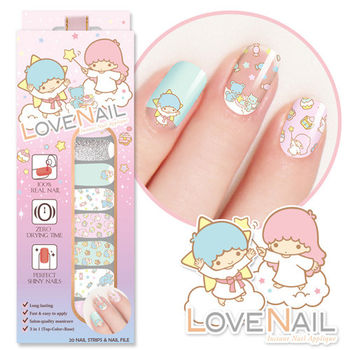 【LOVE NAIL】LittleTwinStars x LOVE NAIL限定版指甲油貼-告白星星糖