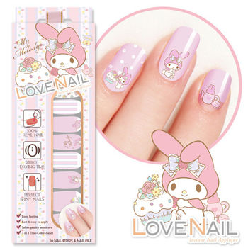 【LOVE NAIL】My Melody x LOVE NAIL限定版指甲油貼-暗戀下午茶
