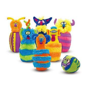 【華森葳兒童教玩具】益智邏輯系列-毛毛怪保齡球 N7-2191