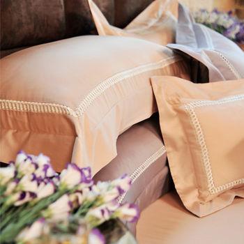 法國CASA BELLE《典藏雅爵》加大刺繡金埃及棉四件式被套床包組(二色任選)