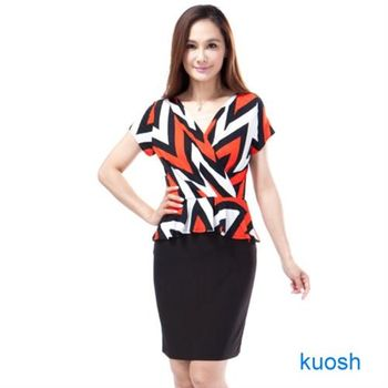 【Kuosh】美國進口荷葉邊洋裝(NW-6013)