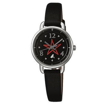 【agnes b.】搖滾甜心 藝術星空腕錶 -黑/26mm(VJ22-KR80D/BH7011X1)