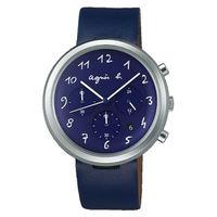 ~agnes b.~法式休閒 皮帶腕錶 ^#45 藍 ^#40 VD53 ^#45 KC3