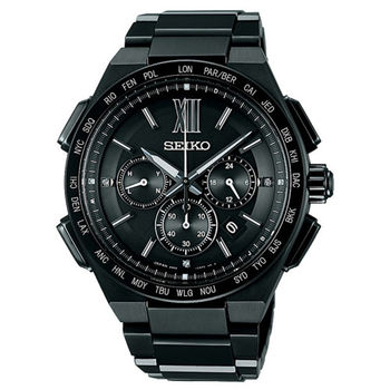 【SEIKO 精工】Brightz 霸氣尊爵太陽能電波腕錶-黑(8B92-0AF0SD/SAGA211J)