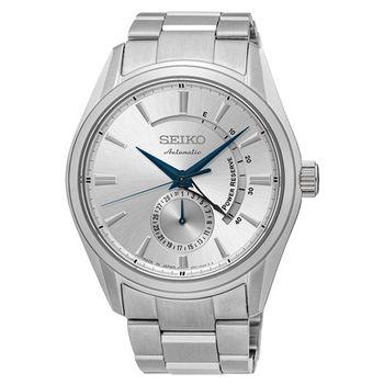 【SEIKO 精工】Presage 經典簡約都會機械鋼帶腕錶-銀(4R57-00A0S/SSA303J1)