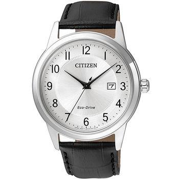 【CITIZEN星辰】Eco-Drive 簡約復古經典男腕錶(AW1231-07A)