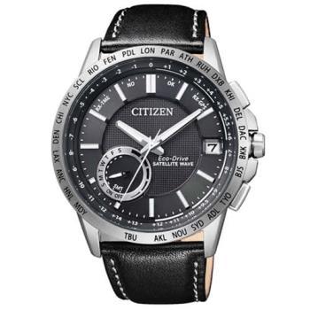 【CITIZEN】光動能GPS萬年曆自動對時皮帶腕錶(CC3001-01E / F150)
