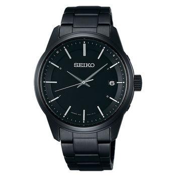 【SEIKO 精工】Spirit 簡約時尚太陽能電波腕錶-黑(7B24-0BJ0SD/SBTM235J)