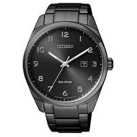 ~CITIZEN星辰~Eco ^#45 Drive光動能低調極致簡約計時腕錶 ^#45 黑