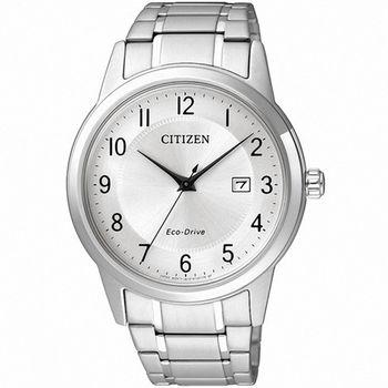 【CITIZEN星辰】Eco-Drive 簡約復古經典男腕錶(AW1231-58B)