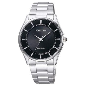 CITIZEN 星辰 Eco-Drive簡約時尚大三針不鏽鋼腕錶/37mm/BJ6481-58E