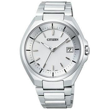 CITIZEN 星辰 光動能 鈦金屬藍寶石鏡面電波白面男錶/45mm/CB3010-57A