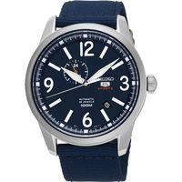 SEIKO 精工5號盾牌24石紳士風機械腕錶 ^#45 藍 ^#47 42mm 4R37