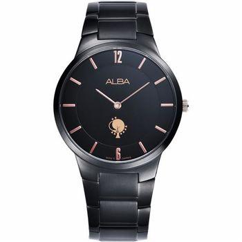 ALBA 劉以豪設計限量城市女錶-黑/38mm VX50-X287K(ATAU93X1)