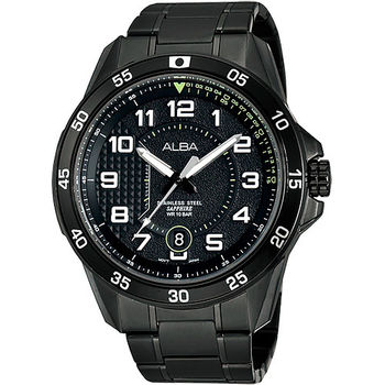ALBA 競速方程式時尚腕錶-IP黑/45mm VJ42-X075SD(AS9505X1)