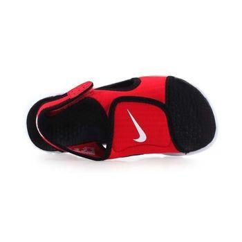 【NIKE】SUNRAY ADJUST 4-GS/PS男女兒童涼鞋- 童鞋 紅黑