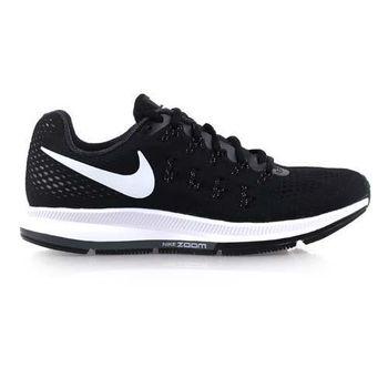 【NIKE】AIR ZOOM PEGASUS 33女慢跑鞋-路跑 黑白