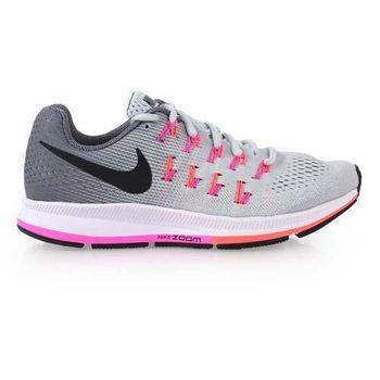 【NIKE】AIR ZOOM PEGASUS 33女慢跑鞋-路跑 灰粉橘