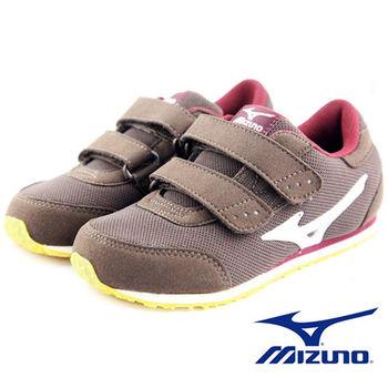 【Mizuno 美津濃】童鞋 TINY RUNNER III (咖啡*白) 1~3歲幼兒鞋 發育型鞋墊 K1GD153258
