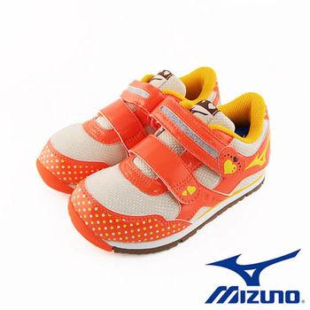 【Mizuno 美津濃】童鞋BEADS KIRARA -亮橘  K1GD163554 (4歲~8歲)