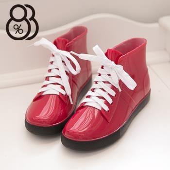 【88%】韓版帆布鞋造型雨靴超防水雨鞋 雨靴 3色