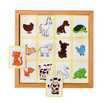 【華森葳兒童教玩具】益智邏輯系列-動物邏輯線索-寶寶 K5-523076