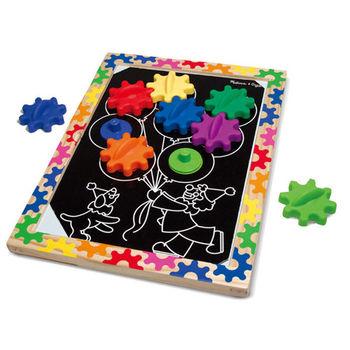 【華森葳兒童教玩具】益智邏輯系列-神仙魚齒輪 N7-3745